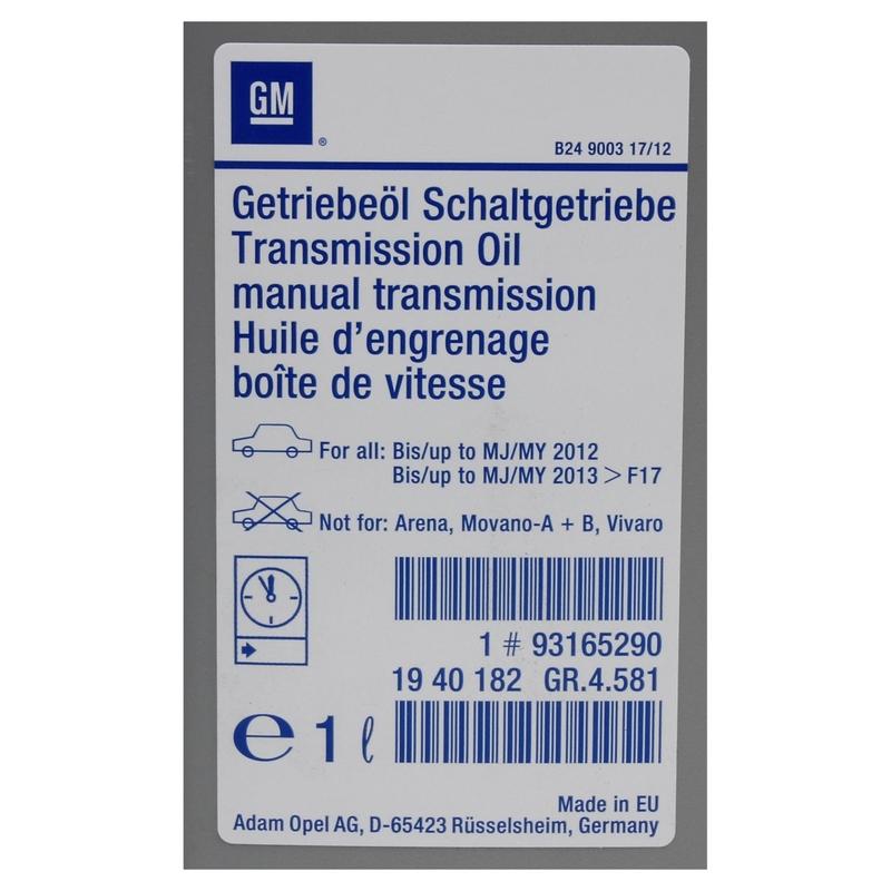 Ulje za menjač - OPEL GM 75W-85 SAE E80 1L